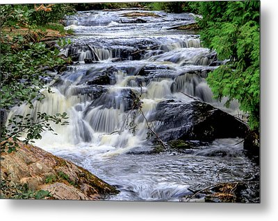 Stream At Sunkhaze Meadows Metal Print by Peggy Berger