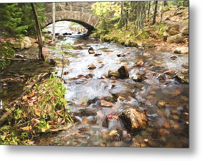 Stream In The Fall Metal Print by Jon Glaser