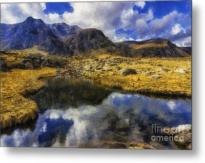 Stream Reflections Metal Print by Ian Mitchell