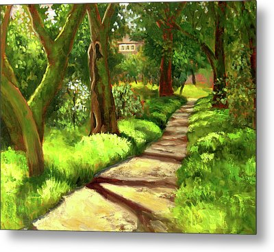 Stroll Through The Oaks Metal Print by Char Wood
