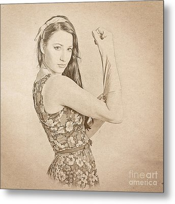 Strong 1950s Housewives Metal Print by Jorgo Photography - Wall Art Gallery