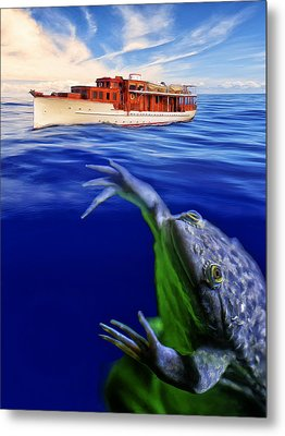 Strong Cross Currents And A Vicious Undertoad Metal Print by Dominic Piperata
