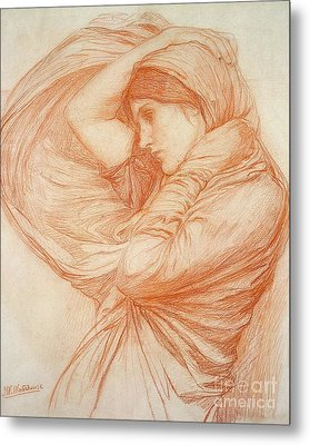 Study For Boreas Metal Print by John William Waterhouse