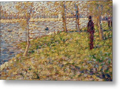 Study For Sunday Afternoon On The Island Of La Grand Jatte Metal Print by Georges Pierre Seurat