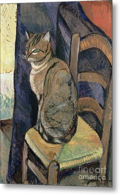 Study Of A Cat Metal Print by Suzanne Valadon