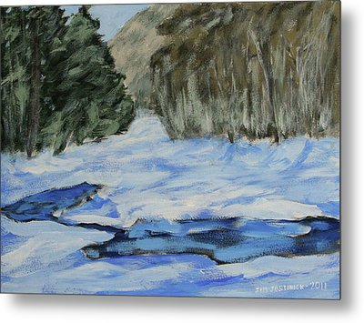 Study Sketch For Winter Creek Metal Print by Jim Justinick