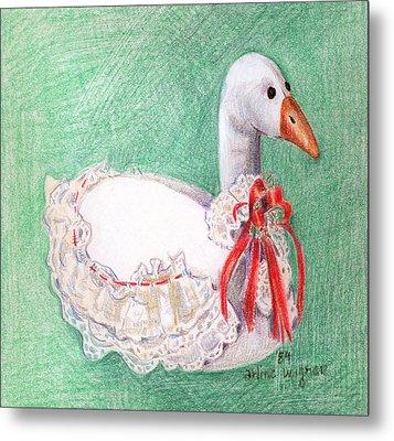 Stuffed Goose Metal Print by Arline Wagner