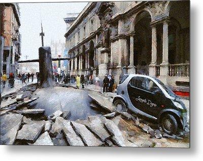 Submarine Accident Metal Print by Leonardo Digenio