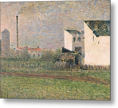 Suburb Metal Print by Georges Pierre Seurat
