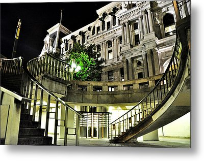 Subway City Hall Metal Print by Andrew Dinh