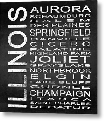 Subway Illinois State 2 Square Metal Print by Melissa Smith