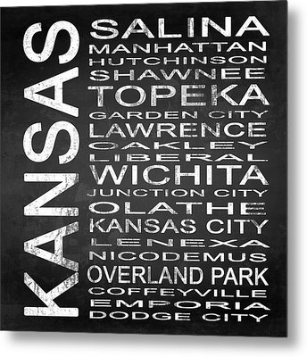 Subway Kansas State Square Metal Print by Melissa Smith