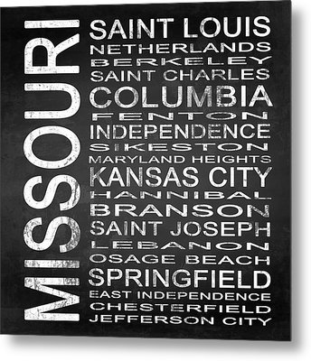 Subway Missouri State Square Metal Print by Melissa Smith