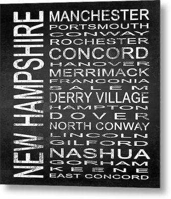 Subway New Hampshire State Square Metal Print by Melissa Smith