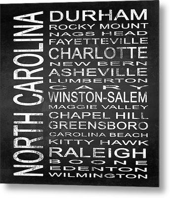 Subway North Carolina State Square Metal Print by Melissa Smith