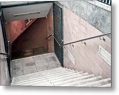 Subway Stairs Metal Print by Tom Gowanlock