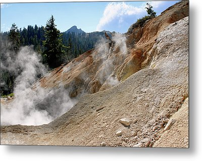 Sulfur Works In Lassen Volcanic Park Metal Print by Christine Till