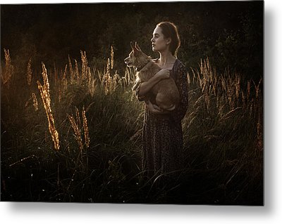 Summer Fire Metal Print by Cambion Art