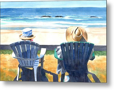 Summer In Lincoln City Metal Print by Melody Cleary