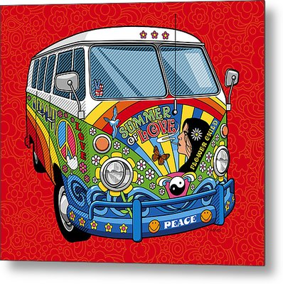 Summer Of Love Metal Print by Ron Magnes