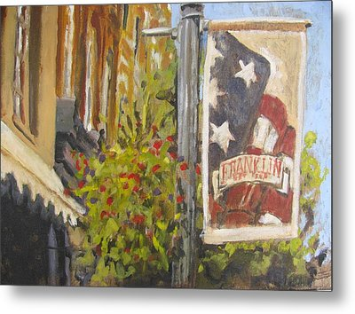 Summer On Main Street Metal Print by Susan E Jones