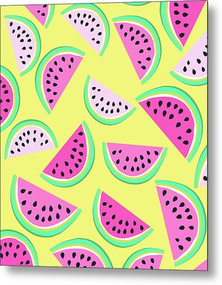 Summer Watermelon Metal Print by Arte Flora Design Studio