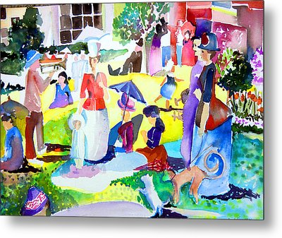 Summer With In The Park With George Metal Print by Mindy Newman