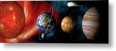 Sun And Planets Metal Print by Panoramic Images