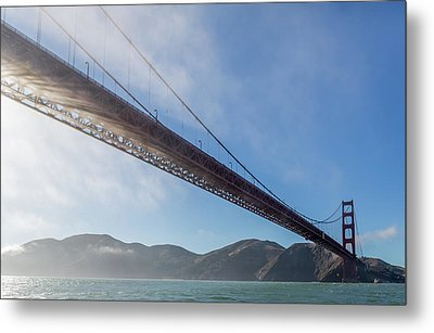 Sun Beams Through The Golden Gate Metal Print by Scott Campbell