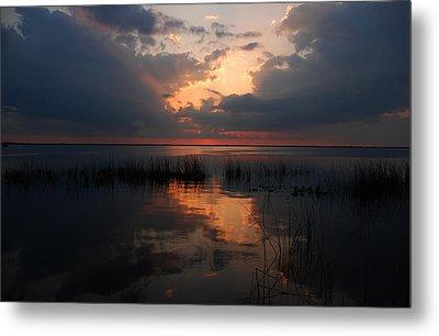 Sun Behind The Clouds Metal Print by Susanne Van Hulst