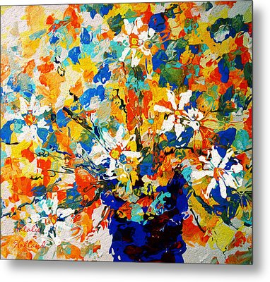 Sun Glow Bouquet Metal Print by Natalie Holland