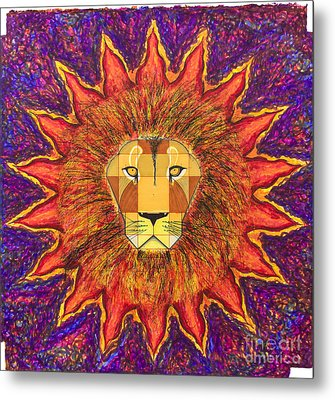 Sun Lion Metal Print by Ernesto Barreiro