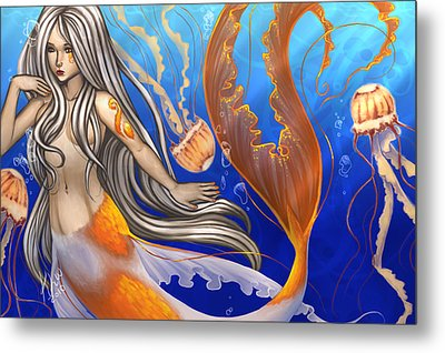 Sun Touched Metal Print by KimiCookie Williams