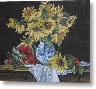 Sunflower Bliss Metal Print by Kim Selig