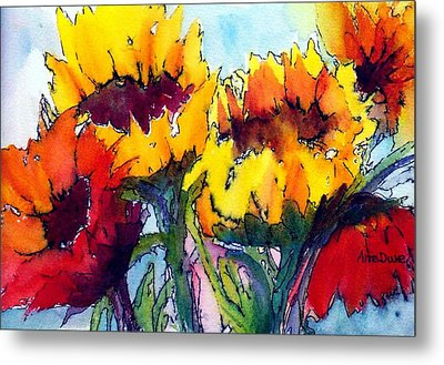 Sunflower Serenade Metal Print by Anne Duke