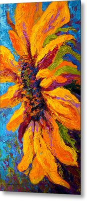 Sunflower Solo II Metal Print by Marion Rose