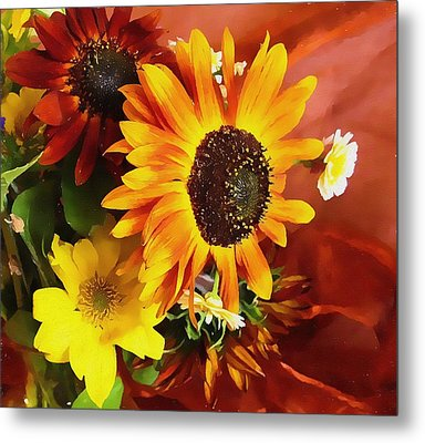 Sunflower Strong Metal Print by Kathy Bassett