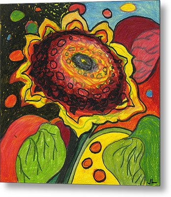 Sunflower Surprise Metal Print by Jennifer Lommers