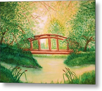 Sunlight And Serenity Metal Print by Nan Hand