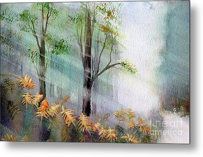 Sunlight In The Forest Metal Print by Kim Hamilton