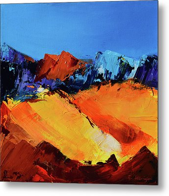 Sunlight In The Valley Metal Print by Elise Palmigiani