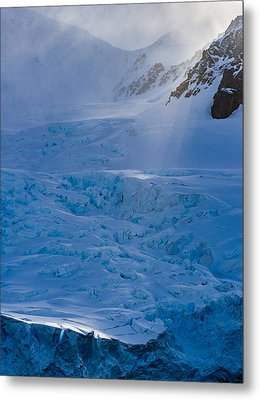 Sunlight On Ice - Antarctica Photograph Metal Print by Duane Miller