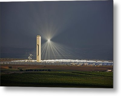 Sunlight Reflects Off Of Low Clouds Metal Print by Michael Melford