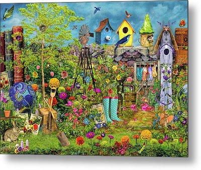 Sunny Garden Delight Metal Print by Aimee Stewart