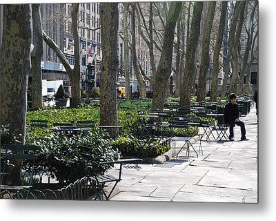 Sunny Morning In The Park Metal Print by Rob Hans