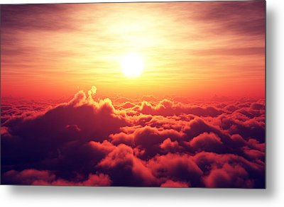 Sunrise Above The Clouds Metal Print by Johan Swanepoel