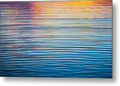 Sunrise Abstract On Calm Waters Metal Print by Parker Cunningham