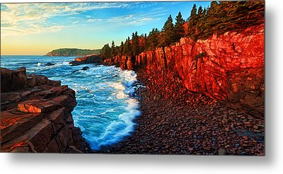 Sunrise At Acadia Panorama Metal Print by Bill Caldwell -        ABeautifulSky Photography