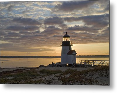 Sunrise At Brant Point Nantucket Metal Print by Henry Krauzyk