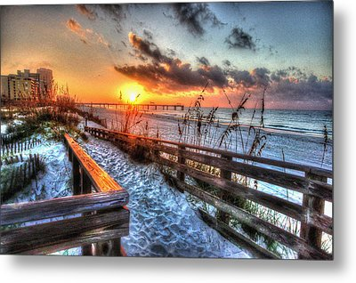 Sunrise At Cotton Bayou  Metal Print by Michael Thomas